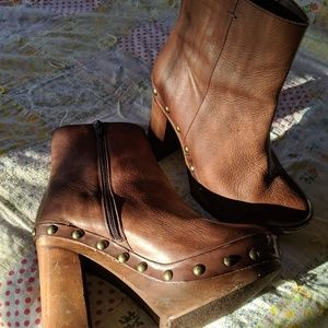 Free People Leather 70s Inspired Boots
